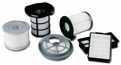 A set of HEPA filters for vacuums